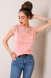 Dámské broskvové tričko RUE PARIS 40