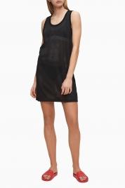Plážové šaty KW0KW01001-BEH černá - Calvin Klein