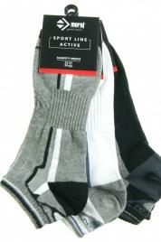 Pánské ponožky 3pcs CSM170-102 černošedobílá - Moraj