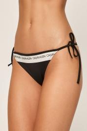 Spodní díl plavek KW0KW00650-BEH černobílá - Calvin Klein