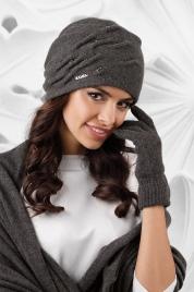 Dámský komplet šála + rukavice + čepice model 163781 tmavě šedá - Kamea