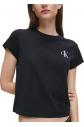 Dámské tričko QS6356E - 001 černá - Calvin Klein