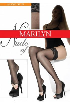 Samodržiace pančuchy s voľnou špičkou Nudo nf Marilyn - Gemini
