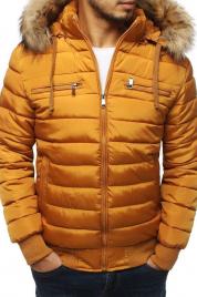 Basic pánská prošívaná bunda s kapucí TX3024