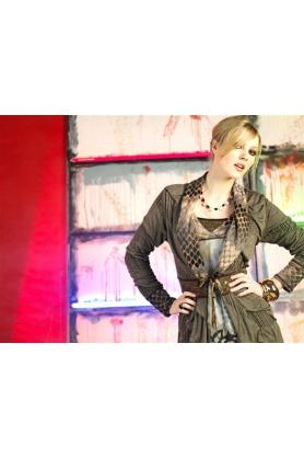 Šaty s dlhým rukávom R3395 - Roberto Naldi