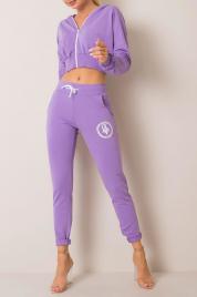Fioletowe spodnie dresowe z aplikacją