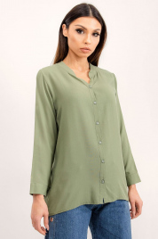 Khaki bluzka koszulowa RUE PARIS