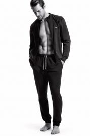 Pánské pyžamo 111795 CC570 00020 černá - Emporio Armani
