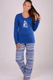Dámské pyžamo dlouhé Sněhulák - Vienetta