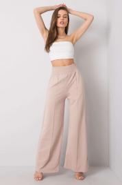 RUE PARIS Beżowe spodnie dresowe bawełniane