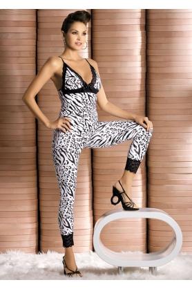 Súprava Obsessive Zebra top + pants