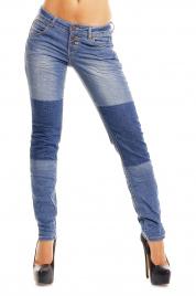 Dámské džíny elastické SUBLEVEL HS-D8731 - Modré