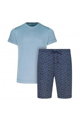 Pánské pyžamo 500001-454 1/2 Knit modrá - Jockey