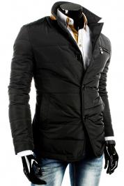 Pánská přechodná bunda na knoflíky tx0468 - Černá