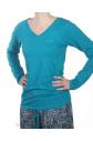 Dámské tričko S5199E - tyrkys - Calvin Klein
