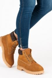 Dámské kožené traperky 37211C - Walkman shoes