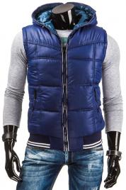 Pánská oboustranná zateplená vesta s kapucí