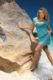Plážové šaty D-12 mašle - Etna