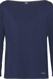Dámské tričko na spaní QS6264E-2VZ tmavěmodrá - Calvin Klein
