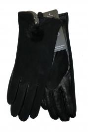 Rękawiczki YO! R-149 Skóra Zamsz