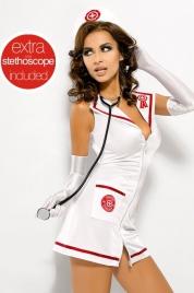 Sexy kostým Obsessive Emergency dress + stetoskop