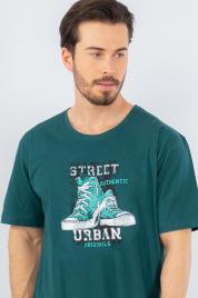 Pánská noční košile s krátkým rukávem Tenisky - Gazzaz