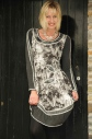Šaty s dlhým rukávom R3375 - Roberto Naldi