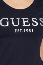 Dámské tričko s krátkým rukávem - O0BI02J1311 - JBLK - Guess
