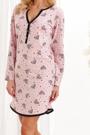 i384_14128965 Dámská noční košile Taro Nika 2228 dl/r S-XL Z20 pudrově růžová M