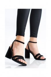 Dámské semišové sandálky na širokém podpatku K2012501NE - Kylie crazy