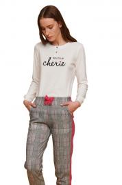 Dámské pyžamo FA6859PB bíločerná - Noidinotte